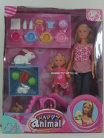 110 - Barbie doll playline - several dolls
